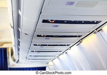 avião, painel, despesas gerais