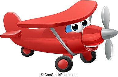 avião, personagem, caricatura