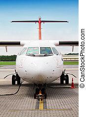 avião, refueling