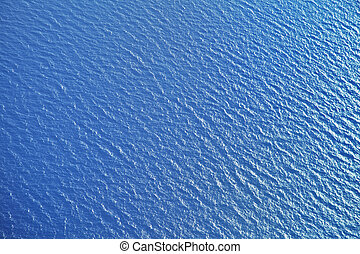 avião, superfície, vista mar