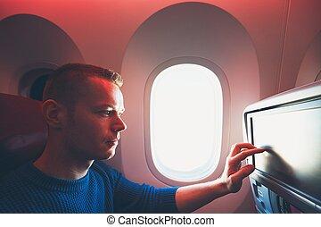avião, viajando