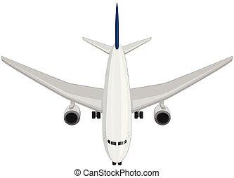 avião, vista superior