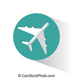 avión, aeropuerto, viajar de transporte