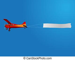 avión, bandera