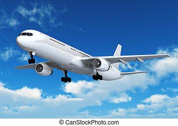 avión comercial pasajero, vuelo