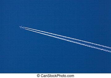 avión, contrails