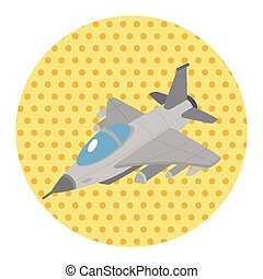 avión, elementos, transporte, tema