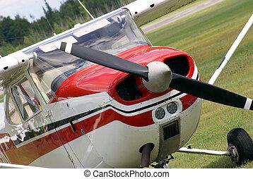avión, estacionado
