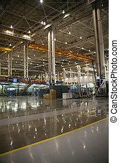 avión, fabricación, facilidad