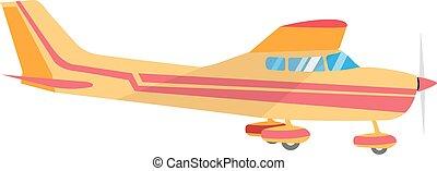 avión ligero, solo, propulsor