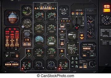 avión, panel