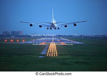 avión pasajero, mosca