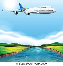 avión pasajero, vuelo