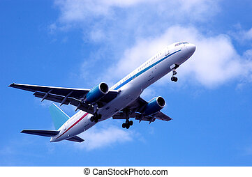 avión, paso