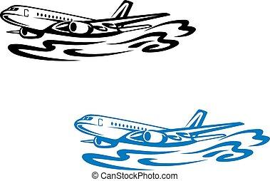 avión, vuelo