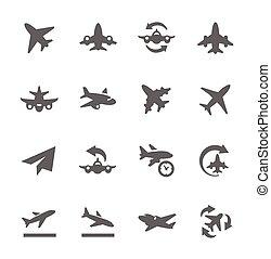 aviões, ícones
