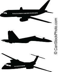 aviões, silueta