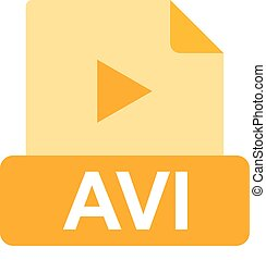 AVI File - AVI, web, play icon vector image. Can also be ...