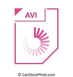 AVI file icon, cartoon style