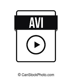 AVI file icon, simple style