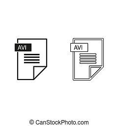 avi icon - green vector icon
