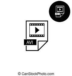 avi icon  - white vector icon