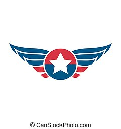 aviação, emblema, emblema, ou, logotipo