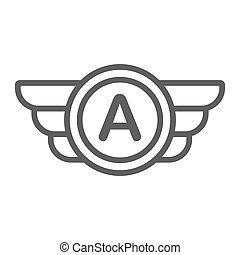 Avia company logo, badge or game icon