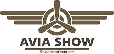 Avia show icon logo, flat style