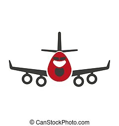 Avia transportation logistics aircraft or plane vector flat isolated icon