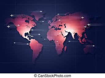 aviación,  global, empresa / negocio, Plano de fondo