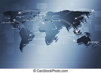 aviación, negocio global, plano de fondo
