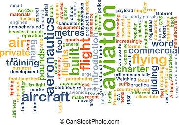 aviación, plano de fondo, concepto