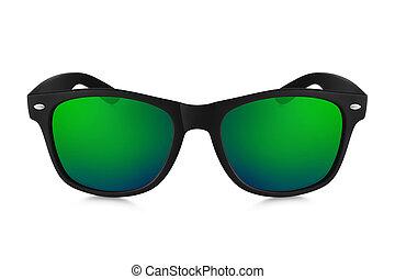 aviador, gafas de sol, aislado, fondo blanco