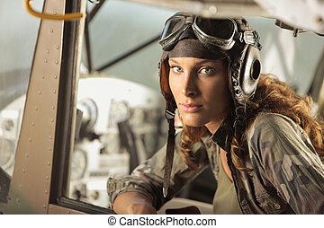 aviador, hembra