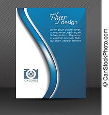 aviador, o, cubierta, diseño