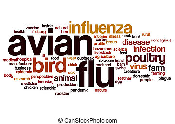 Avian flu word cloud