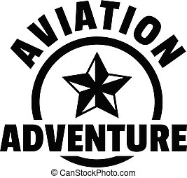 Aviation adventure logo, simple style