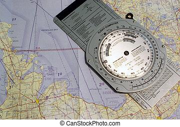 Aviation Collingwood - Aviation navigational chart of...