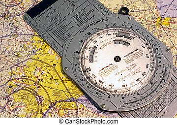 Aviation Detroit - Aviation navigational chart of Detroit...