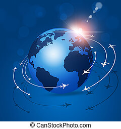 aviation, global, fond