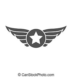 Aviation gray emblem, badge or logo