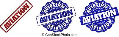 AVIATION Grunge Stamp Seals