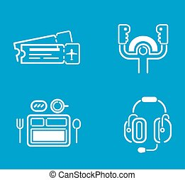 Aviation icons vector set. - Aviation icons vector set...