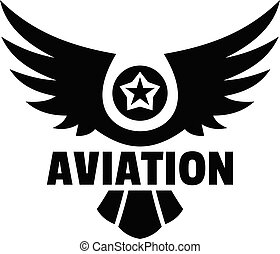 Aviation logo, simple style