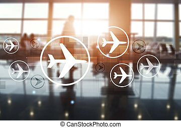 aviation mixed media business background