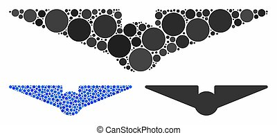 Aviation Mosaic Icon of Spheric Items