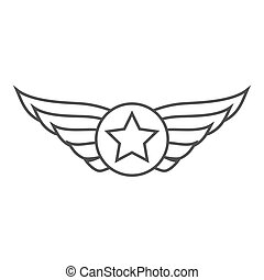 Aviation outline emblem, badge or logo