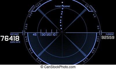 aviation radar GPS navigation screen display,bullet shot &...