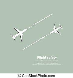 Aviation safety infographic. Scene 4. Vector illustration.